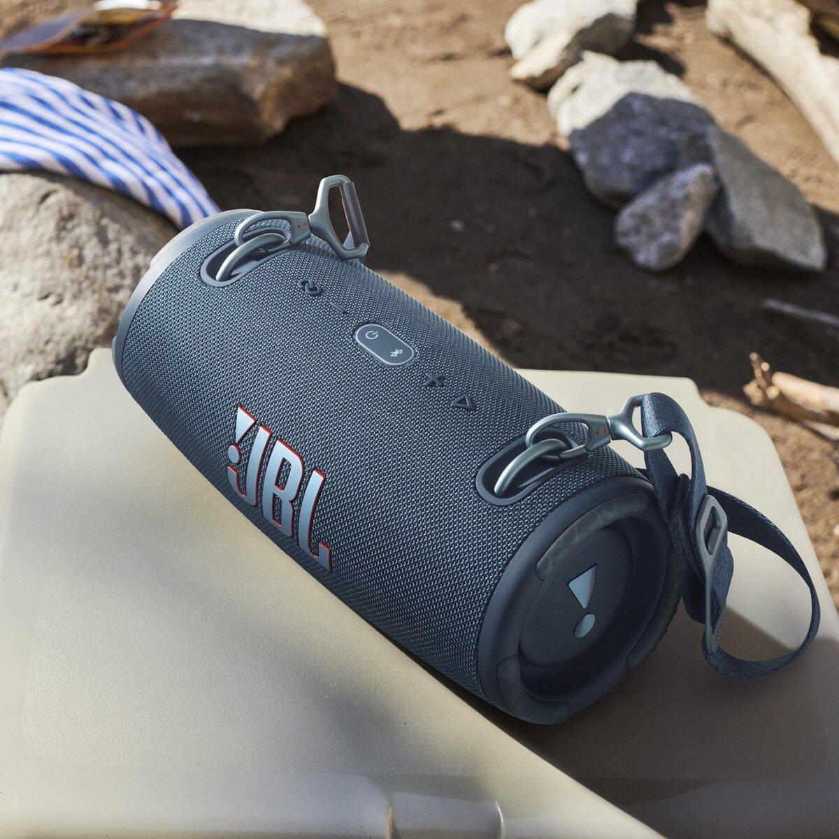 jbl xtreme 3 portable bluetooth waterproof speaker black jblxtreme3blkas lifestyle blue 2e4c7c42 high