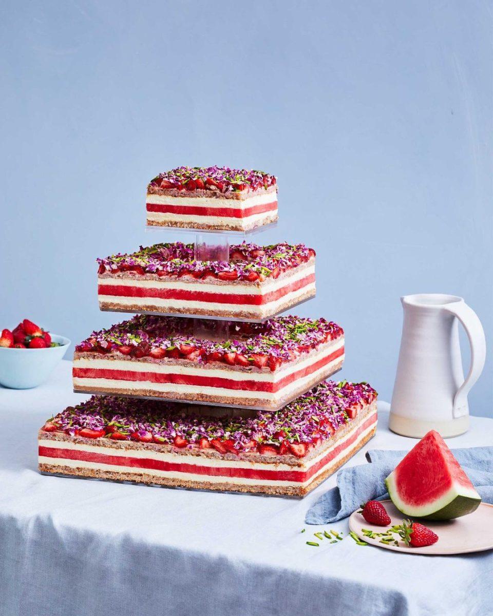 strawberry watermelon cake